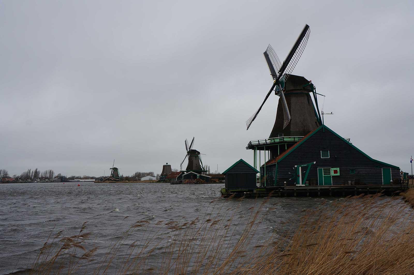 Zaanseschans - yeldeğirmeni - rüzgar gülü - windmill