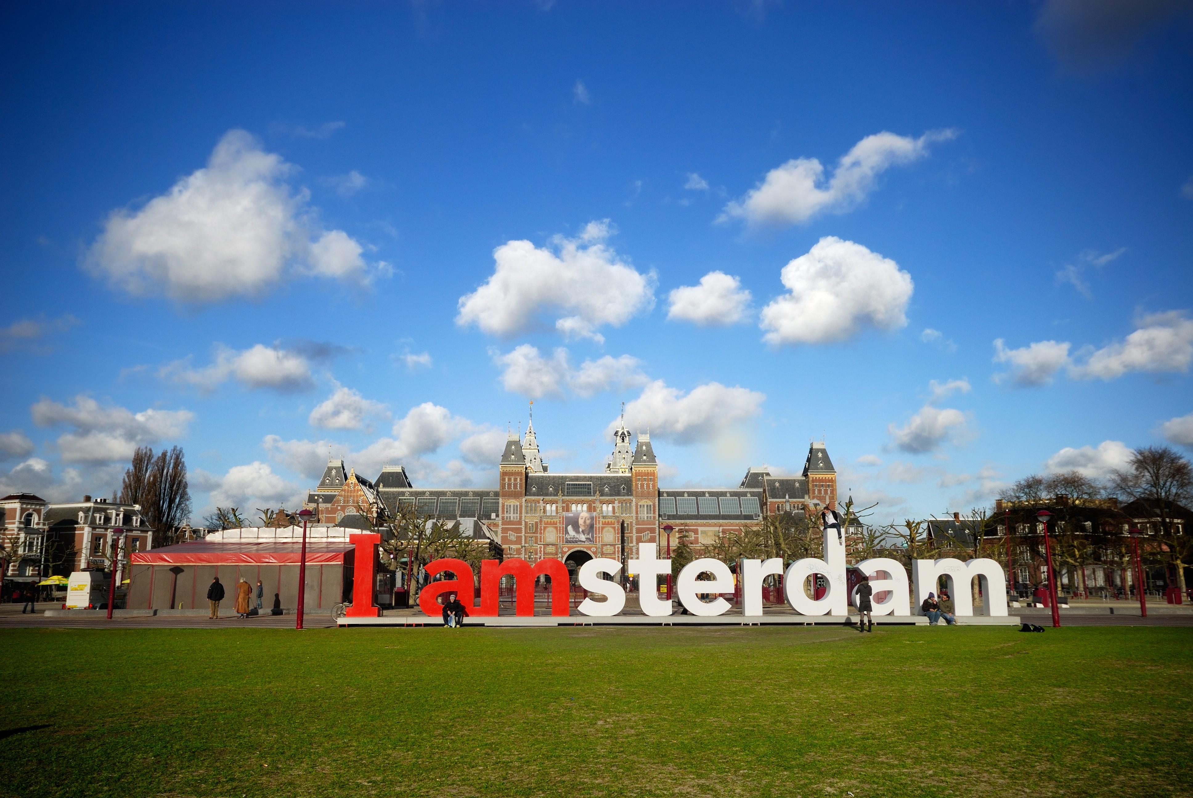 Museumplein - Müzeler - Amsterdam Yazısı - Iamsterdam sign