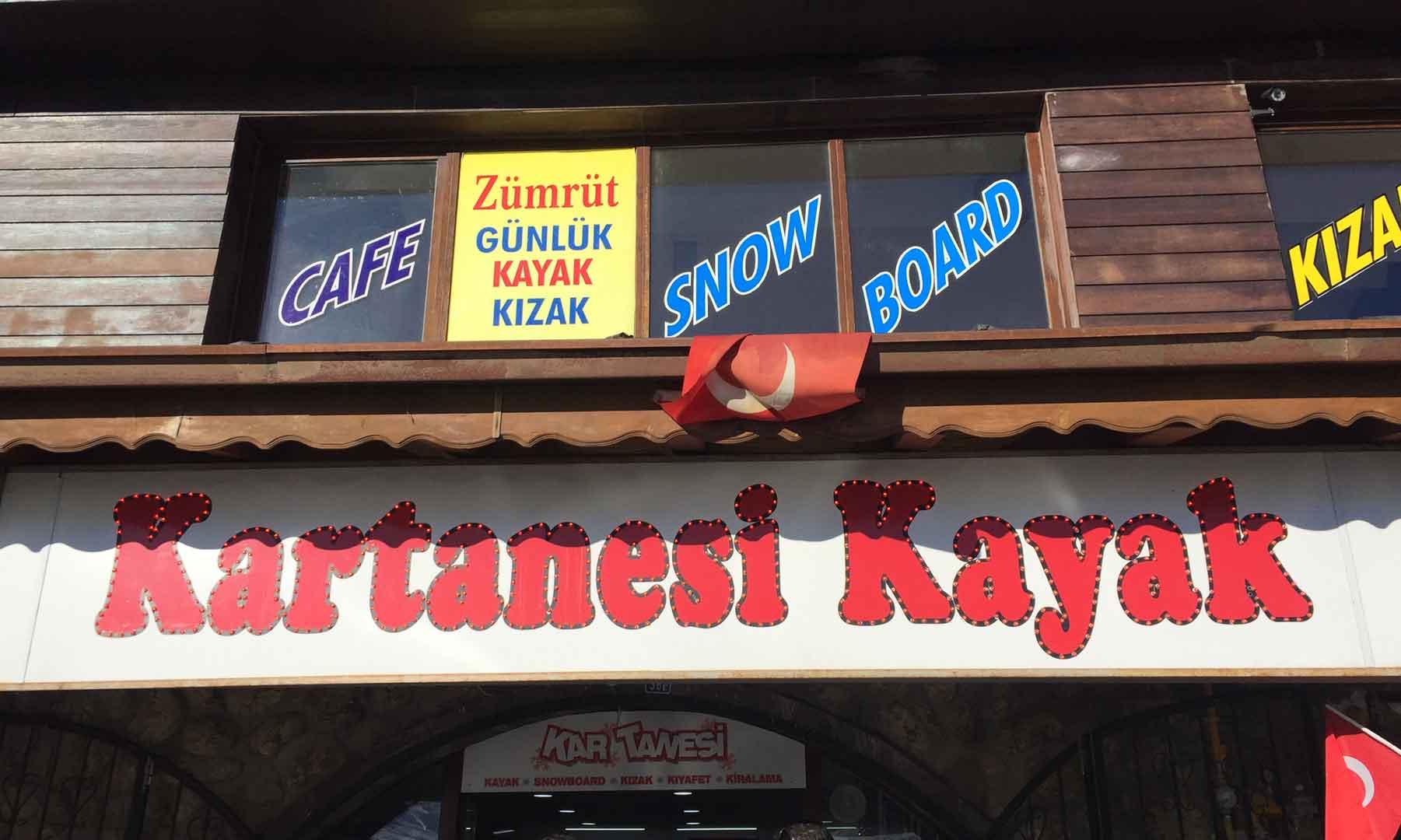 Kartanesi - Kayak Evi - Erciyes - Snowboard - Kayak - Kızak - Kar Montu - Kayak Malzemeleri