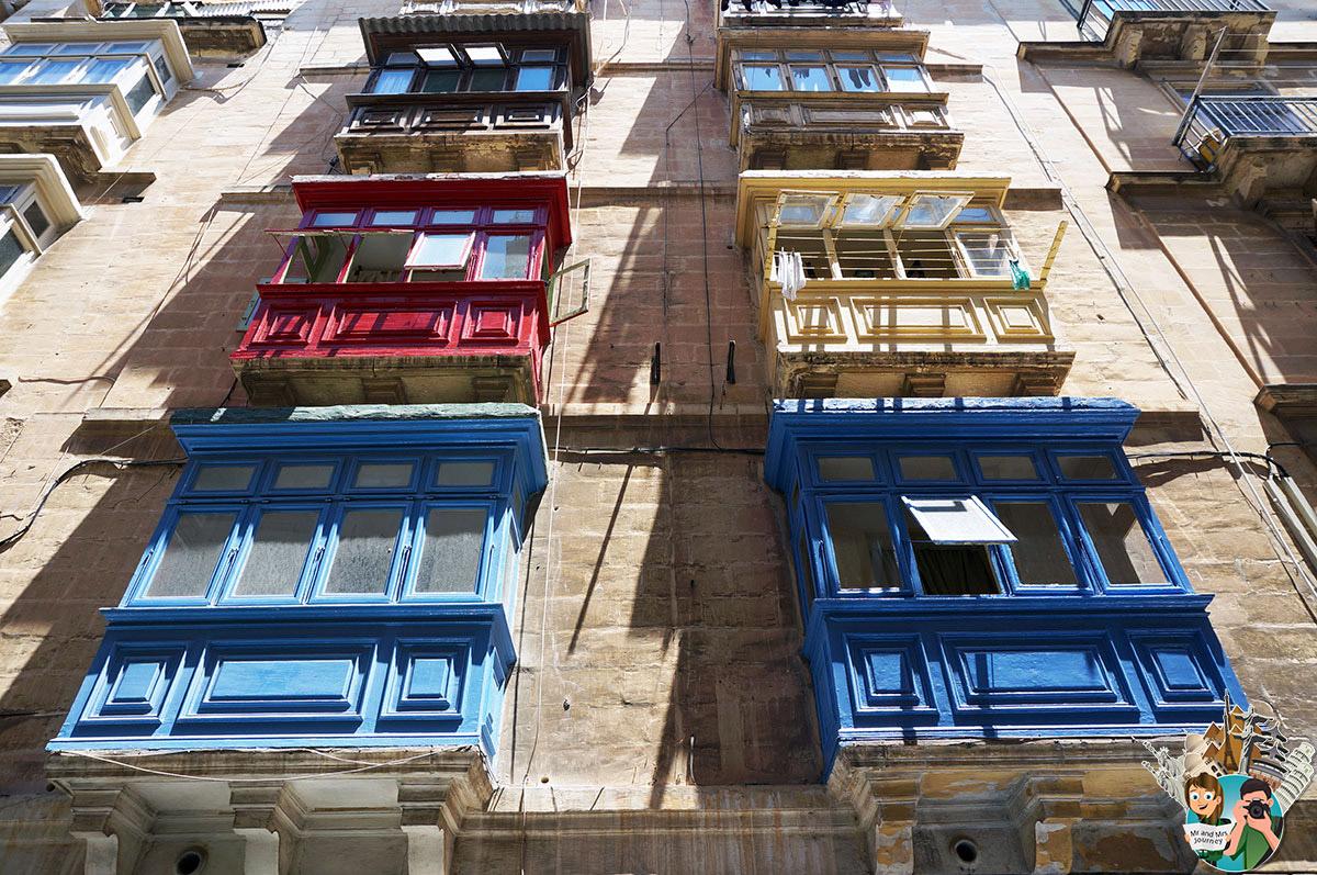 Malta - Şehir - Evler - Cumbalı Evler - Otantik