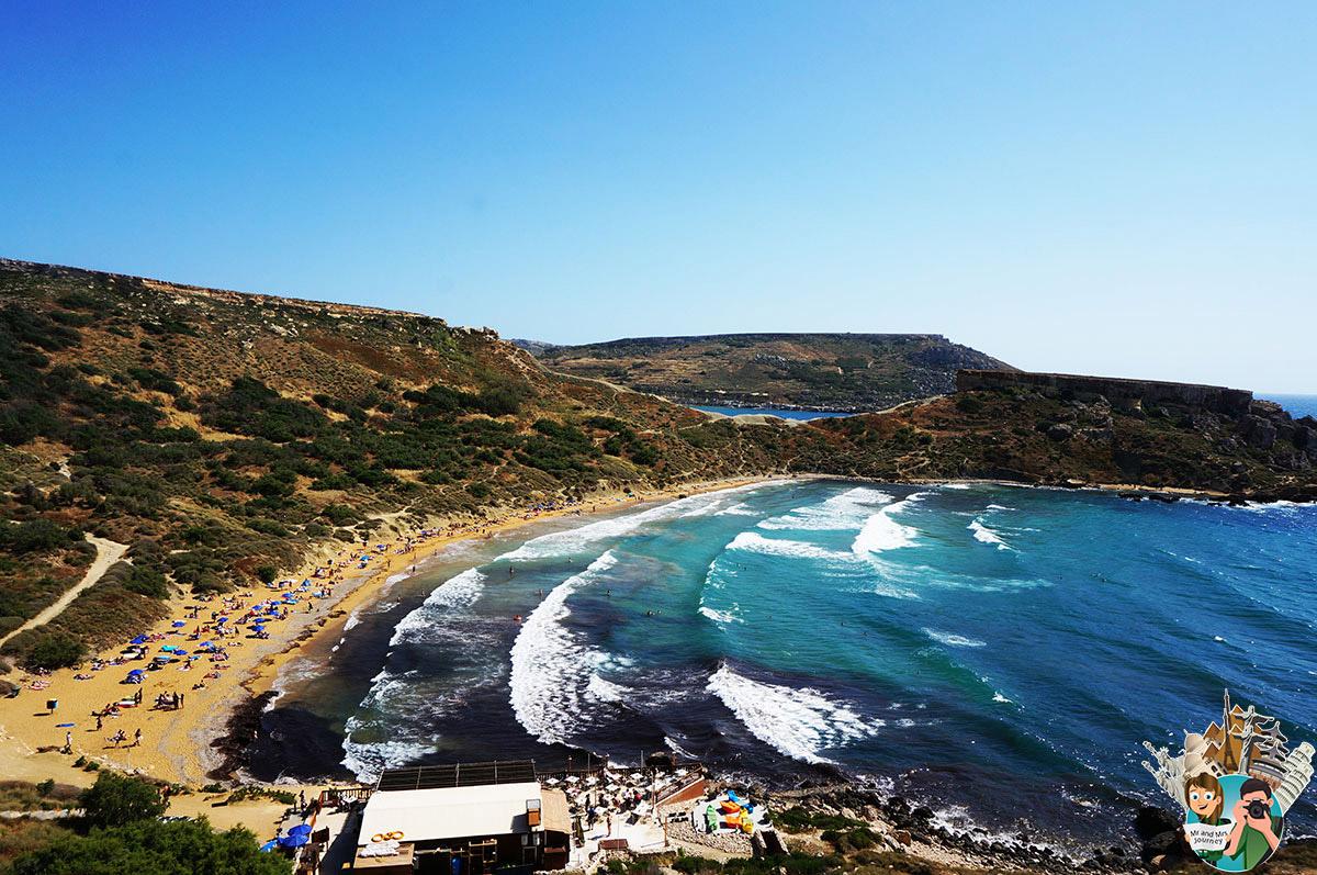 Malta - Ghajn Tuffieha Beach - Malta Gezilecek Yerler - Seyahat Planı