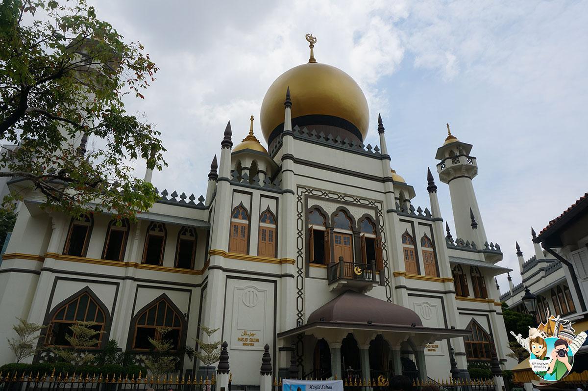 Singapore-Masjid-Sultan-Mosque-Sultan-Cami-Singapur-Gezilecek Yerler