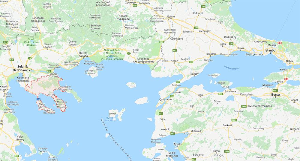 Yunanistan-Halkidiki-Nerededir